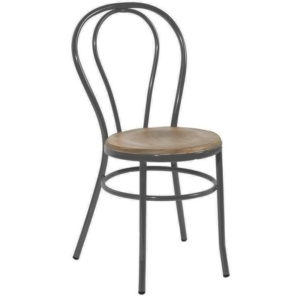 silla metal y madera estilo tonet