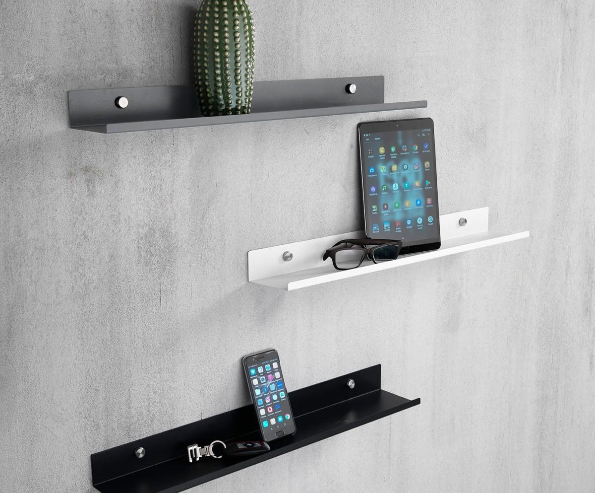 balda metalica porta fotos o estanter pared decoración