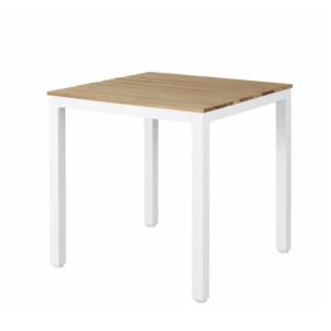 mesa-aluminio-terraza-restaurante-hotel-tablero-teka-estructura-blanca