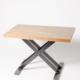 mesa restaurante metal y madera