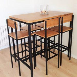 mesa-alta-cocina-y-4-taburetes